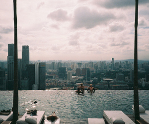 pool, city, and photography image