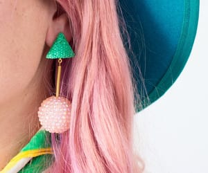 earring, hat, and street fashion image