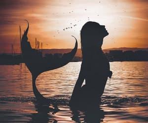 girl, mermaid, and photography image