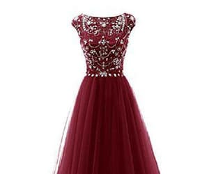 sexy prom dresses, burgundy prom dresses, and evening dress cheap image