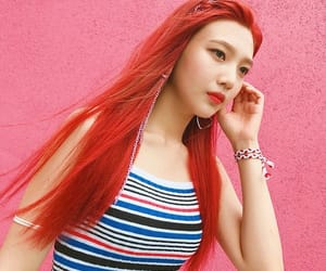 joy, kpop, and red flavor image