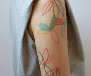 colors, flower, and tattooart image