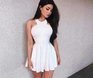 homecoming dresses, sleeveless party dresses, and white party dresses image