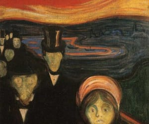 edvard munch, anxiety, and art image