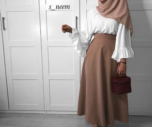 Blanc, jupe, and white image