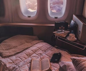 travel, pink, and book image