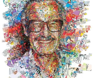 art, portrait, and stan lee image
