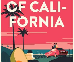 america, art, and california image