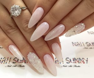 glam, nails, and white image