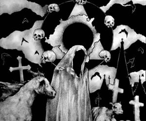 art, black, and macabre image