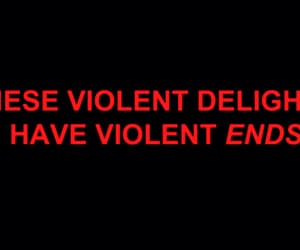 quote and violent image