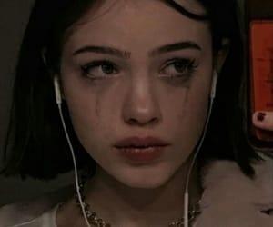 crying, girl, and sad image