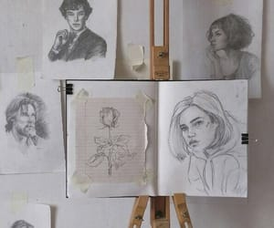 art, drawing, and pencil image