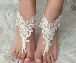 bridal shoes, wedding shoes, and bridal anklet image