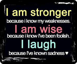 quote, strong, and laugh image