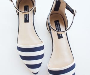 nautical, shoes, and stripes image