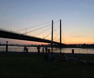 germany, sunset, and düsseldorf image
