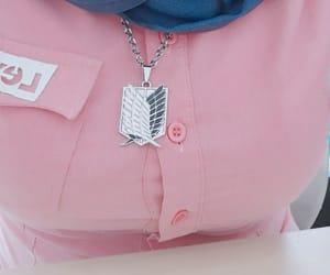 necklace, Otaku, and pink image