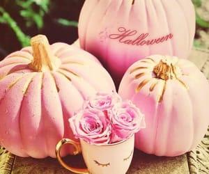 Halloween, pink, and pumpkin image