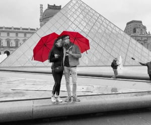 louvre, paris, and red image