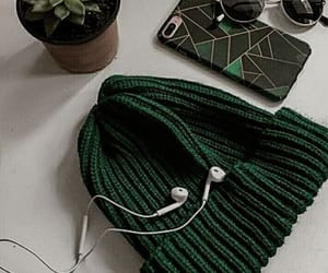 aesthetic, beanie, and green image
