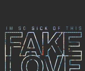 bts, fake love, and wallpaper image