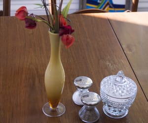 cafe, vase, and table image