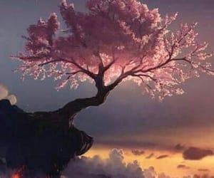 art, sakura tree, and wallpaper image