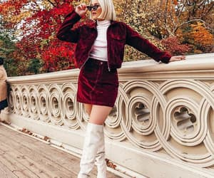 chic, fashion, and maroon image