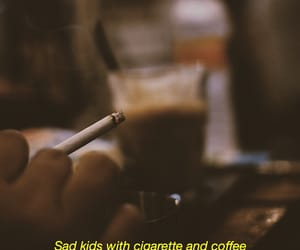 aesthetic, cigarette, and coffee image