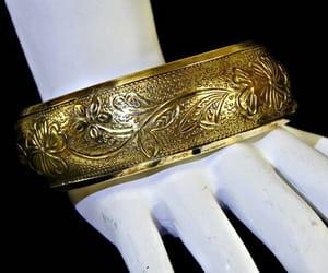 Art Nouveau, brass, and floral image