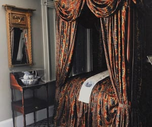 canopy bed, castle, and chic image