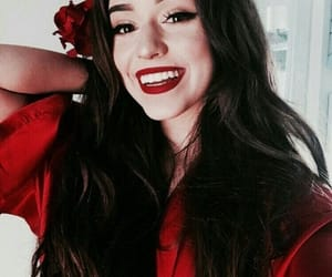 thalia bree, red, and flowers image