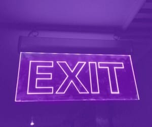 purple, aesthetic, and exit image