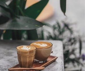 coffee, latte, and morning image