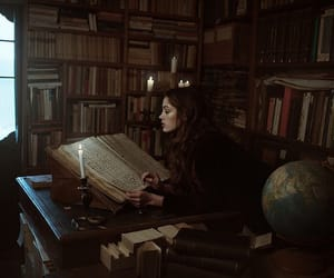 girl, photography, and books image