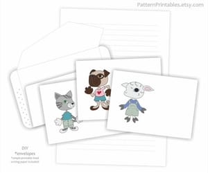 cat, stationery, and templates image