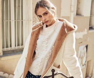 geometric dress, jacket, and sweater image