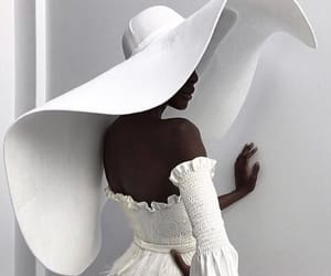 hat, white, and fashion image