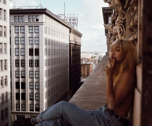 edge, rooftop, and smoking image