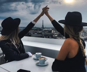 black, hat, and paris image