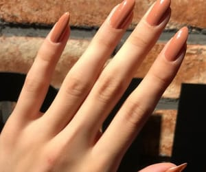 nails, girl, and autumn image