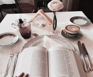 aesthetic, books, and food image