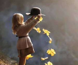 autumn, child, and girl image