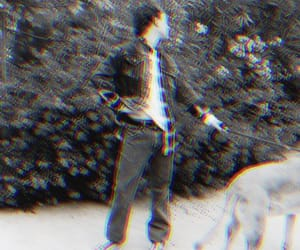 actors, black and white, and glitch image