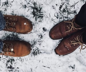 autumn, boots, and december image