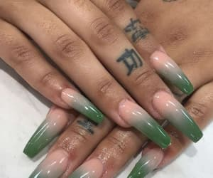 ghetto, green, and nail art image