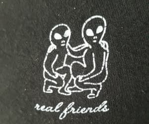 aliens, real, and friends image