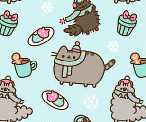 wallpaper, pusheen, and cute image