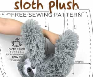 sewing pattern, sloth, and perezoso image